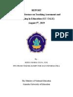 Report Global Conference (Rizza Maria Ulfa Ppg Tki)