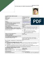 ONGC Format Mahesh Kumar K B