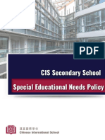 Chinese International School - SEN Policy February 2019
