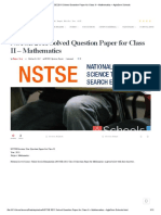 NSTSE 2011 Solved Question Paper for Class II – Mathematics – AglaSem Schools