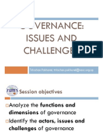 Governance - Issues and Challenges