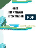 National Canvass Presentation