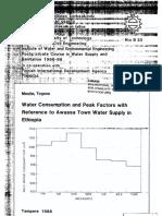 PPeak Factors and Water Consumption 275-4337