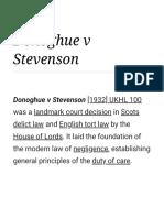 Donoghue v Stevenson -