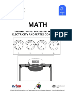Math 6 DLP 62 - Solving Word Problems Involving Electricity and Water Consumption