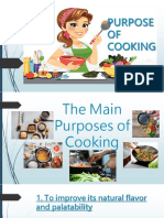 Purpose of Cooking