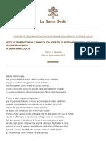 Papa-francesco Preghiere 20181208 Immacolata