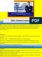 MBA - Business Leadership