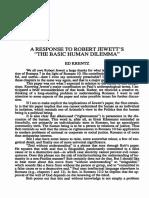 Krentz, Edgar - A Response to Robert Jewett's the Basic Human Dilema