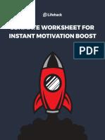 Ultimate Worksheet for Instant Motivation Boost