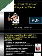 10 MECANISMOS DE ACCIÓN DE TÓXICOS Y ANTÍDOTOS - copia.ppt
