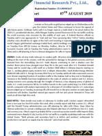 CapitalStars MCX Report 07 August 2019