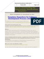 Software Requirements Specifications Template 2018