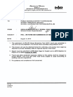 Phil Iri Form and Submission of Report Secondary