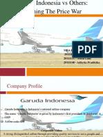 Garuda Indonesia vs Others, Winning the Price War