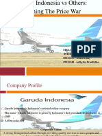 Garuda Indonesia vs Others, Winning the Price War