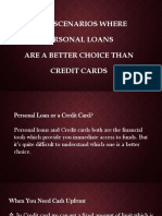 Top 6 Scenarios Where Personal Loans Are a Better Choice Than Credit Cards