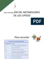 Altera. Metabolismo Lipidos