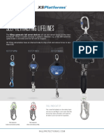 XSPlatforms Leaflet Self Retracting Lifelines