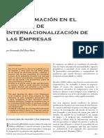 La información en la internacionalización de las empresas.