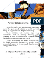Active Recreational Activities