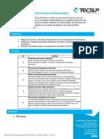 Excel Para Profesionales - Temario