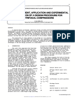 The Development, Application and Experimental cvalidation of centrfugal compressor