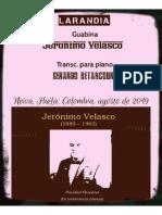 LARANDIA. Guabina. Jerónimo Velasco. Transc. piano Gerardo Betancourt.