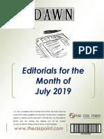 Monthly DAWN Editorials July 2019