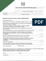 Declaracion Jurada de Salud de San isidro