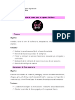 Descripción de Tareas Para La Empresa Girl Boss