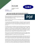 Ghana Manganese Company limited Press Release