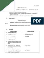 Lesson Plan- Grade 10 Multimedia Elements