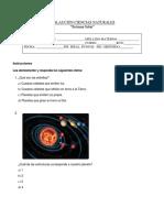 Sistema Solar Evaluación