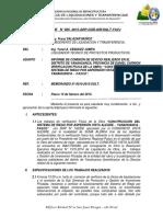 """INFORME   N° 005 - """"CONSTRUCCIÓN DEL SISTEMA DE  RIEGO POR ASPERSIÓN VISTA ALEGRE – YANAHUANCA –  PASCO"""""""
