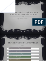 Tendencias Filosóficas en la rehabilitación vocal