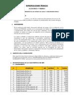 0002 - Especificaciones Tecnicas Accesorios y Tuberias de Pvc