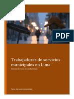 Trabajadores de Servicios Municipales en Lima - 2019