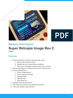 Release Notes - SR Image Rev C