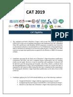 CAT 2019 Eligibility