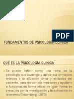 Fundamentos de psicólogia clinica