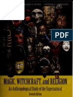 Magic Witchcraft and Religion an Anthropological Study of The Supernatural