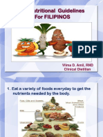 2012 Nutritional Guidelines for Filipinos Bbb