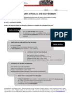 New Problem Solution Essay - Workshop 1