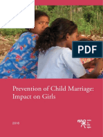Prevention of Child Marriage Impact on Girls