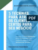 Ebook - 5 Técnicas Para Atrair Clientes