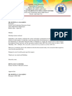 Department of Agriculture LETTER