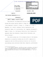 DNC v. Russian Federation Order of Dismissal 7-30-2019