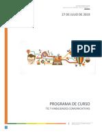 Programa de Curso TIC II