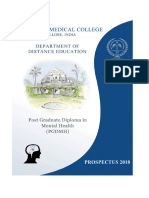 Prospectus of PGDMH, 2018